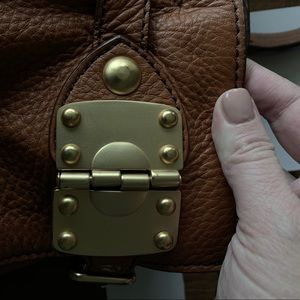 Miu Miu Bags - Miu Miu Belted Satchel with Gold Hardware